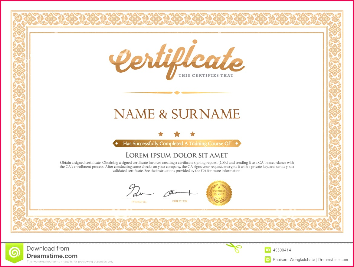 Awesome Collection for Illustrator Certificate Template Also Template