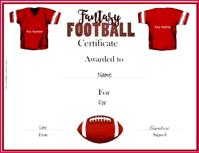 free fantasy football awards fantasy football certificates of fantasy football certificates