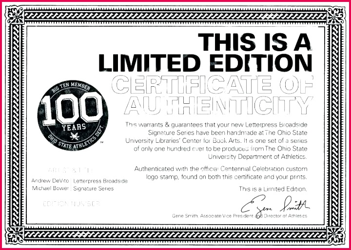 artist certificate of authenticity template photography limited edition print rtificate sample best