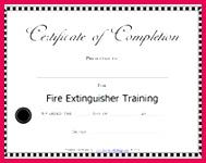 award fire extinguisher training