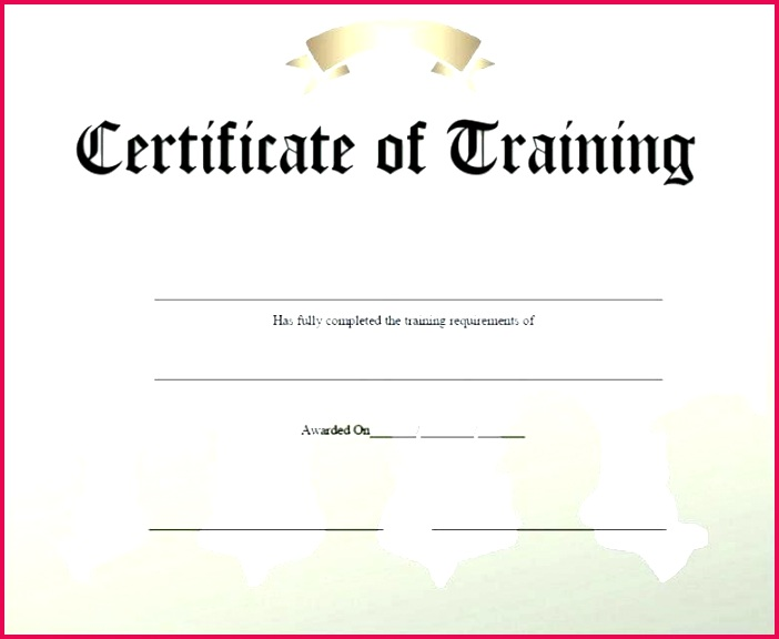 first aid certificate template word training course