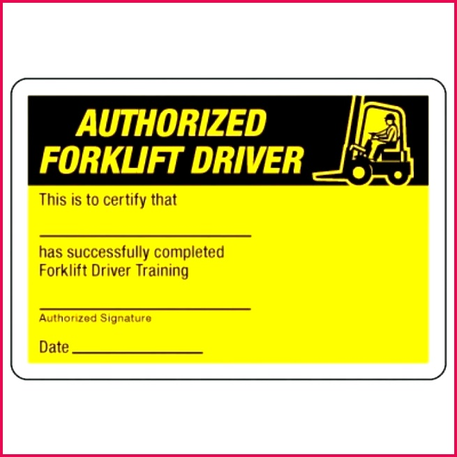 forklift certification wallet card template free org training money