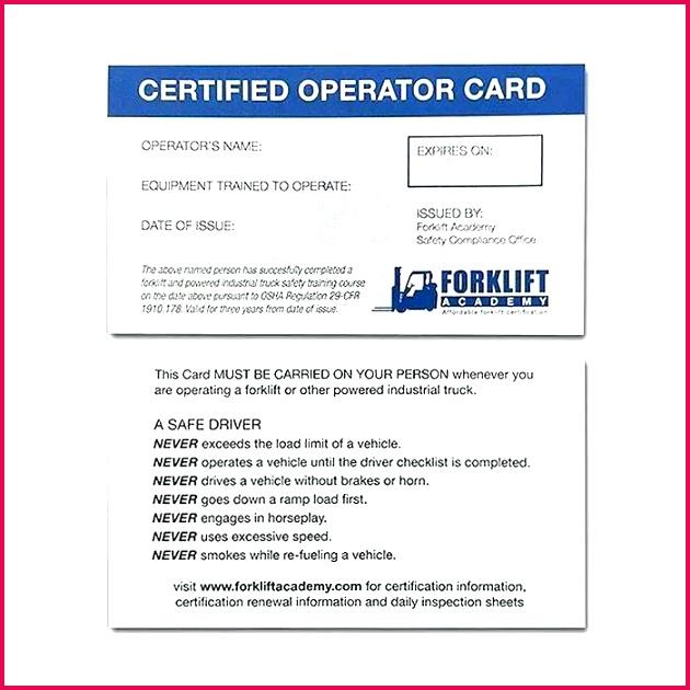 forklift certification specialist forklift certification card template free good forklift training cards of beautiful forklift certification