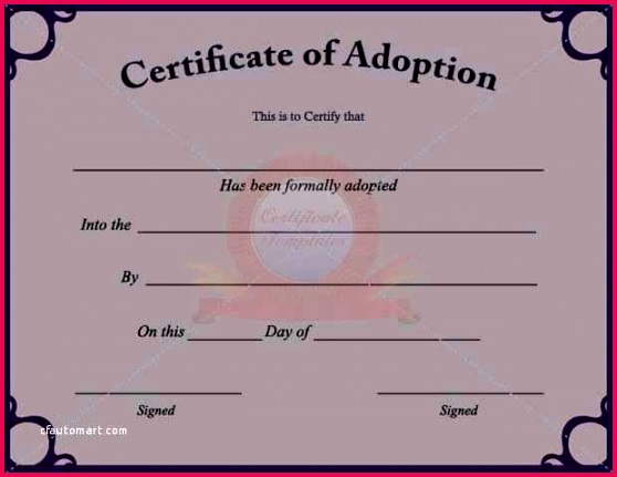template lab birth certificate for adopted child lovely fake adoption blank fill in the c