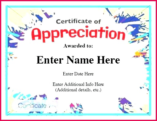 printable certificate of appreciation blank template free able templates background design templ