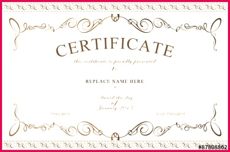 high res printable Certificate Template Download