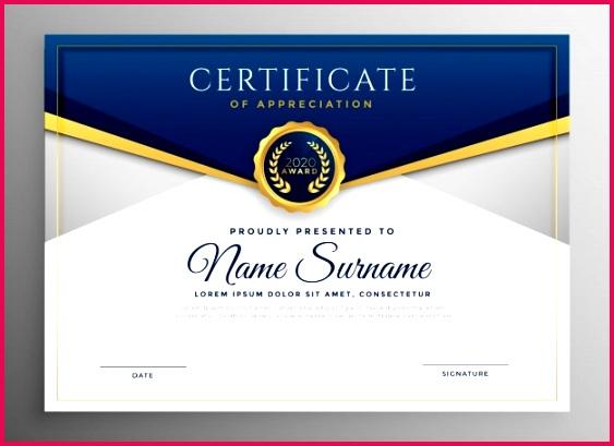 elegant blue gold diploma certificate template 1017