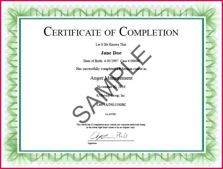 anger management pletion certificate template certificate of pletion templates free printable inspirational templates