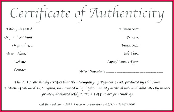 free printable certificate of authenticity templates artwork template co condo letter
