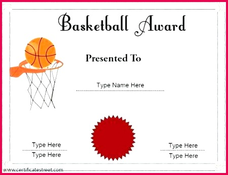 orange simple sport certificate template football white basketball