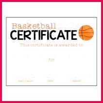 certificate celebrate basketball
