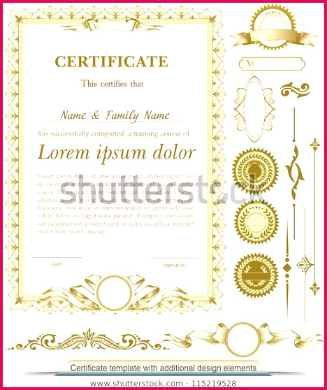 gold vertical certificate template additional 600w