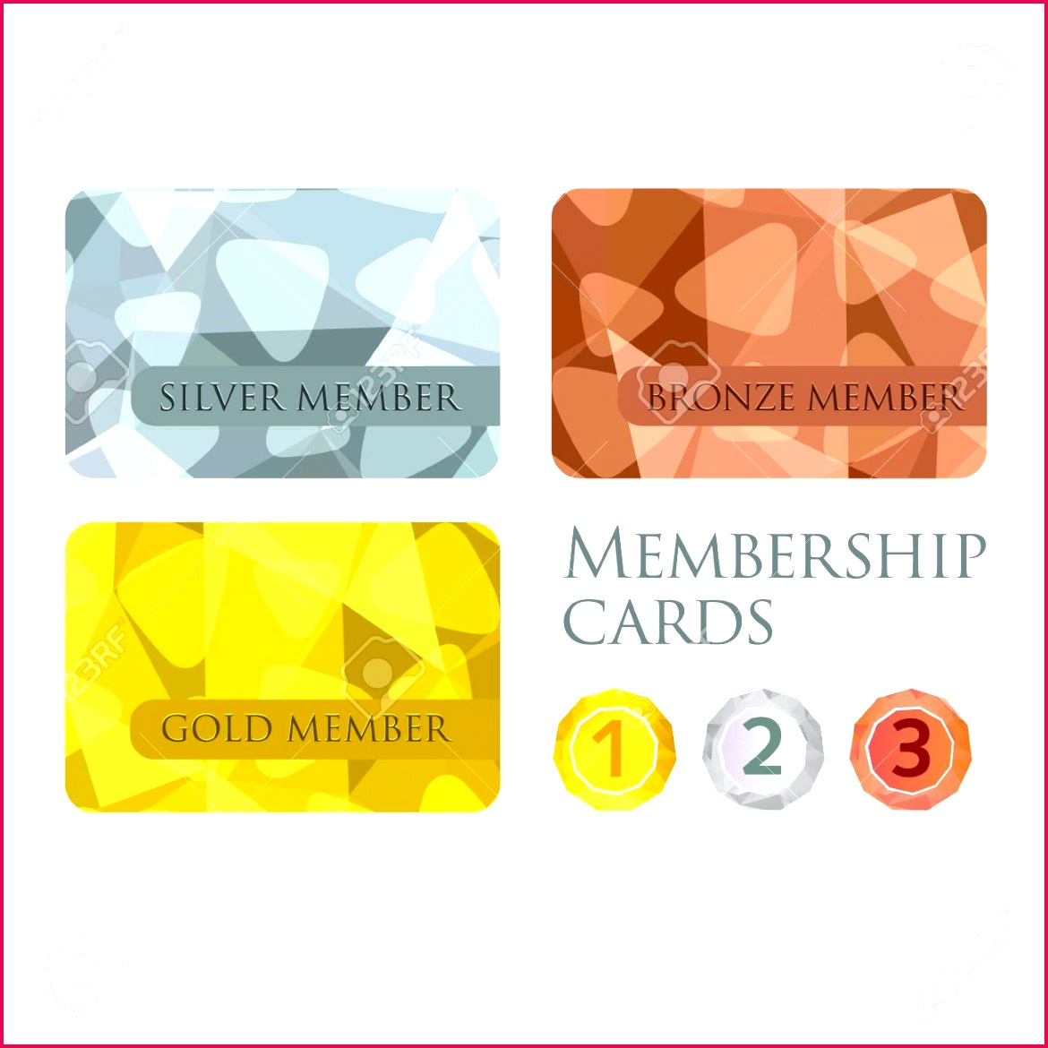 gold silver and bronze membership cards or backgrounds and medals set in polygonal style t vouche