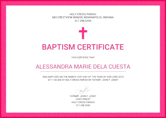 Baptism Certificate Template1