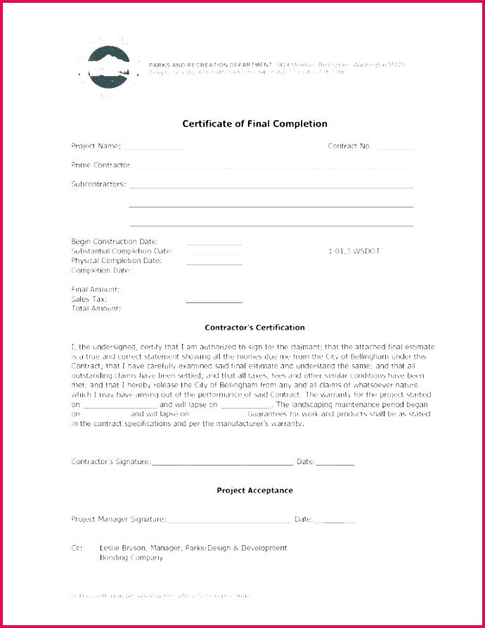 certificate of substantial pletion template new contractor free certificate of final pletion template certificate of pletion template pdf be the first to ment on certificate of substantial
