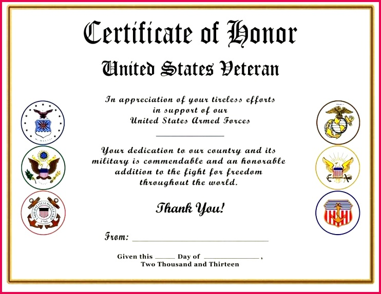 free veterans day certificate templates appreciation template images of veteran s player the vete