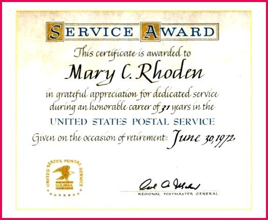year service award certificate template long ppt awards certificates