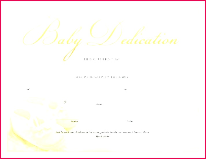 dedication certificate template beriberi co baby invitation sample