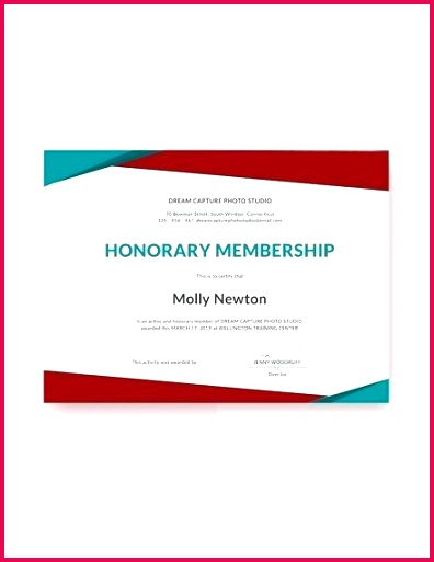 free honorary membership certificate template church member