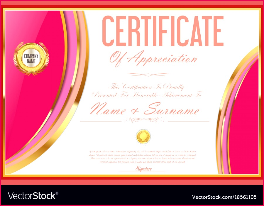 certificate template retro design 09 vector