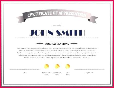 sample certificate of appreciation free templates