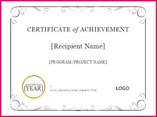 certificate of achievement template word best free samples appreciation sample wording