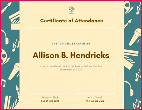 canva brown attendance certificate MADFinjUKic