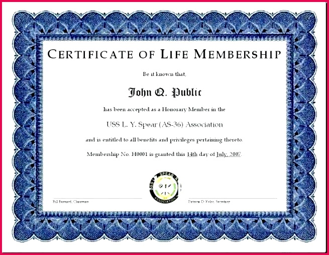 awesome collection for life membership certificate templates of your sample honorary member template free best ideas certificat