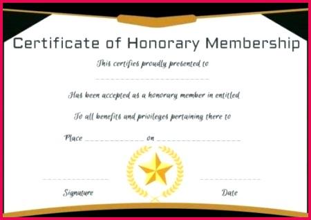 honorary membership certificate template diploma free templates