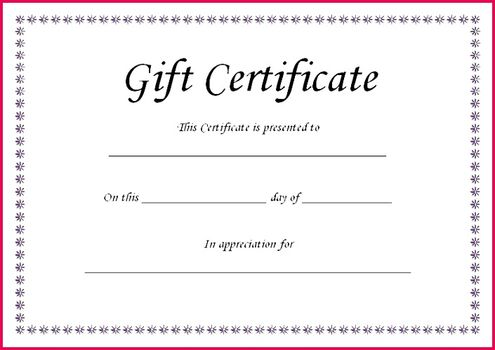 Spa Gift Certificate Templates Gift Ideas Email Gift Certificate Template Email Gift Voucher Template Free Printable
