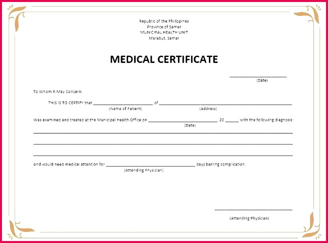 8 free sample medical certificate templates printable samples pertaining to fake template i need a how make me dr fak