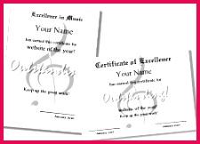 music certificate 3