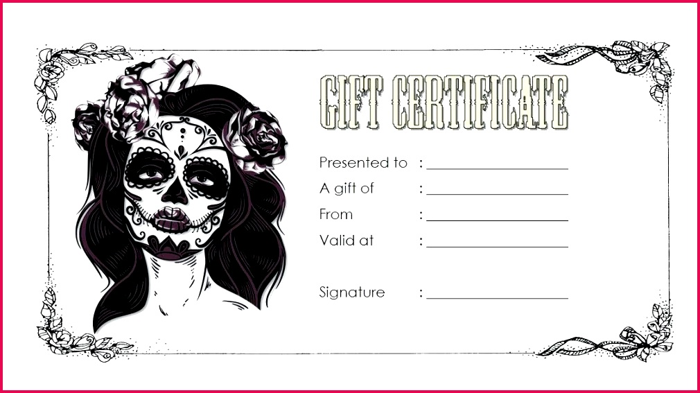 tattoo t certificate web photo gallery template voucher free