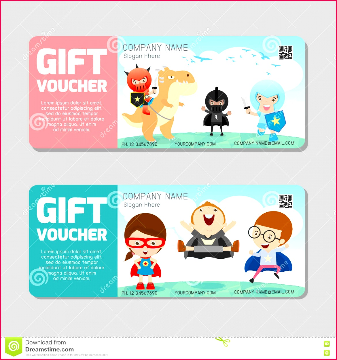 t voucher template modern pattern child concept voucher template premium pattern voucher superhero kids colorful