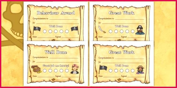 T T 4155 Pirate Sticker Reward Certificates For Small Stickers ver 2