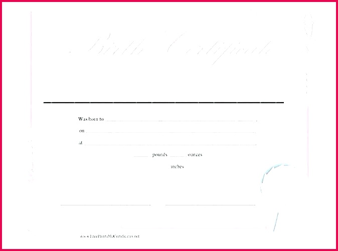 printable birth certificate template blank images definition puter templates girl monster bootstrap