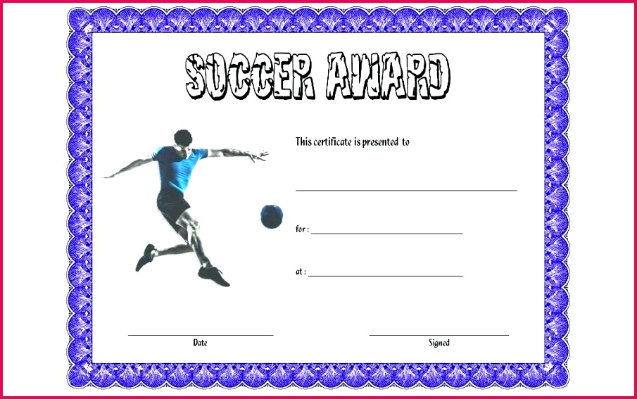 free football certificate templates soccer award template sport specializati