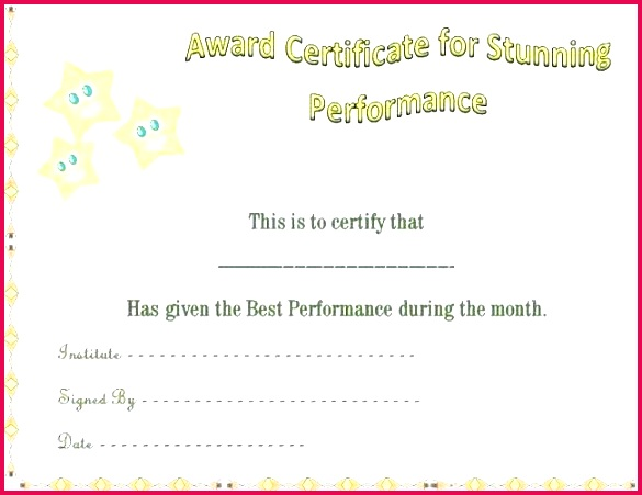 gold star certificate template fresh award or name a classy naming rock best free wars jedi training