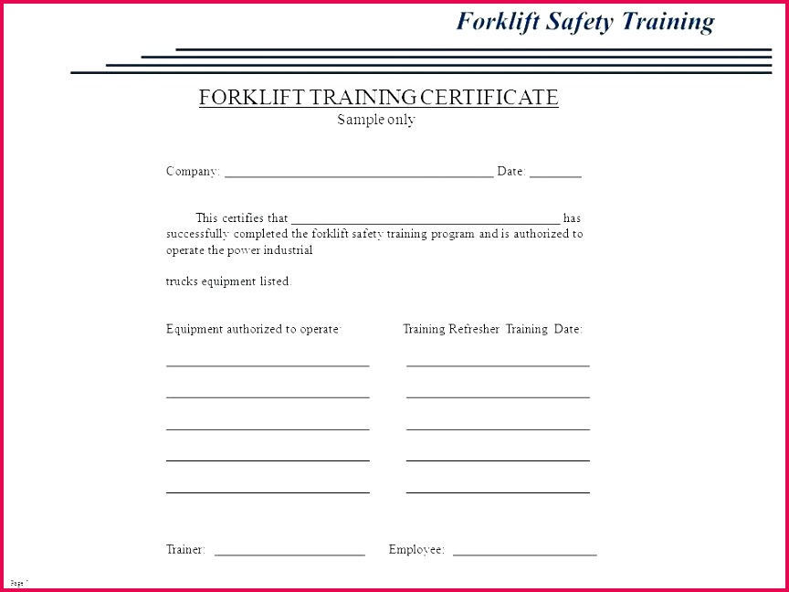 free forklift certification forklift training cards licence template operator certificate certification card free forklift training certification