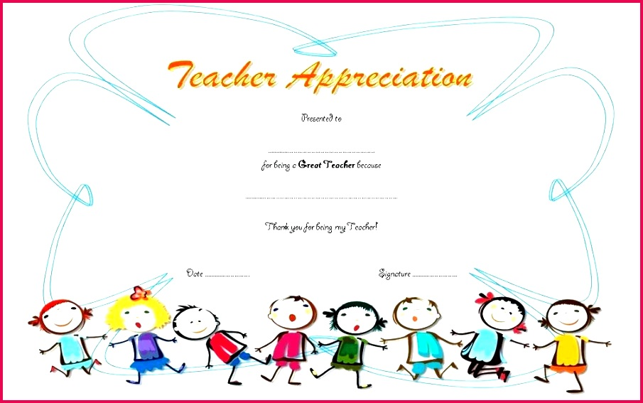 certificate of appreciation for teachers template 8 free printable certificates