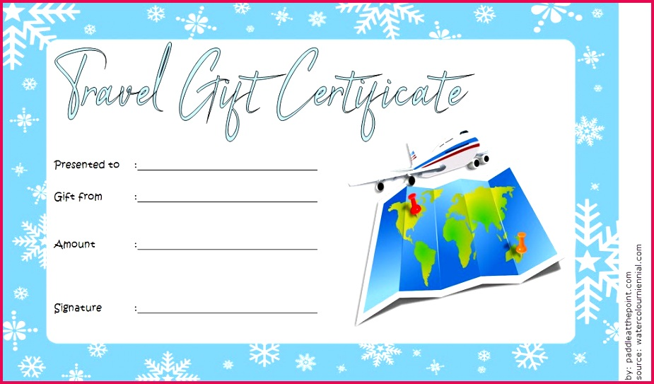 Travel Gift Certificate Template 5