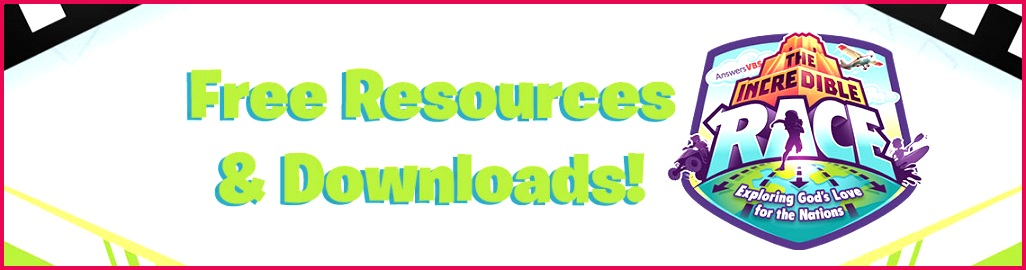 The Incredible Race Free Resources