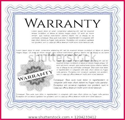 blue warranty certificate template guilloche 450w