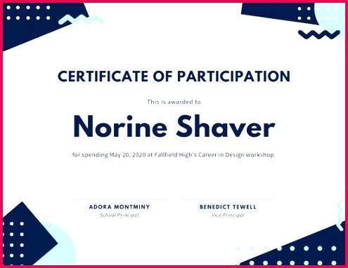 White Geometric Design Participation Certificate