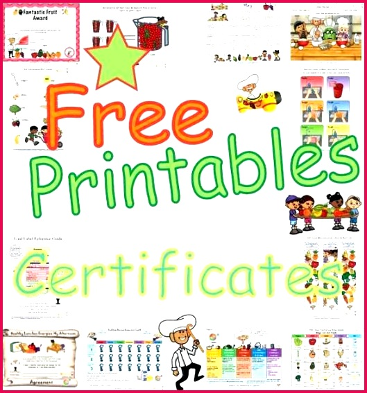nutrition and fitness certificates for children printable awards healthy behaviors free award elementary students kids fun h