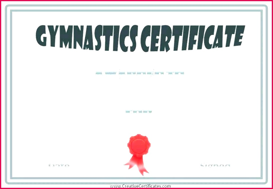 gymnastics t certificate template awesome fun run luxury templates make your own award awardwallet plus gymnastic