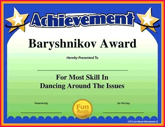 fun certificate templates for employees funny certificates