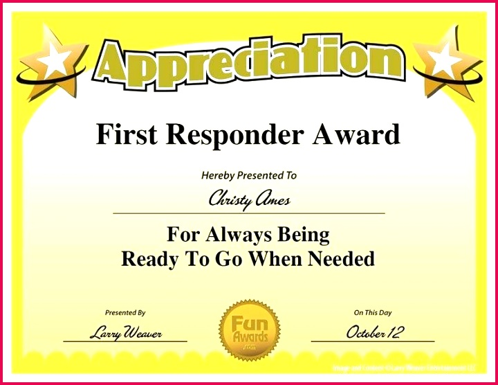 first award funny certificates employee appreciation ts certificate best template