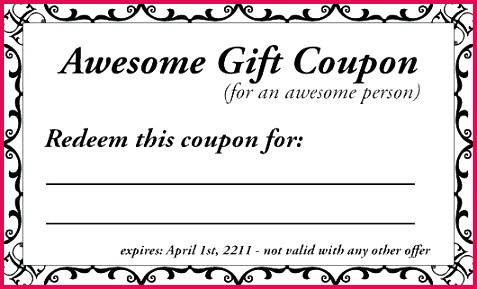 coupons template co printable birthday babysitting coupon free book word