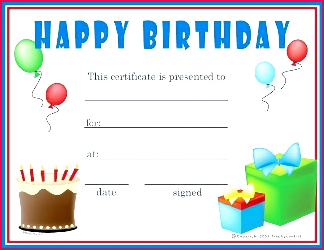 free t certificates online birthday t certificate template printable blank